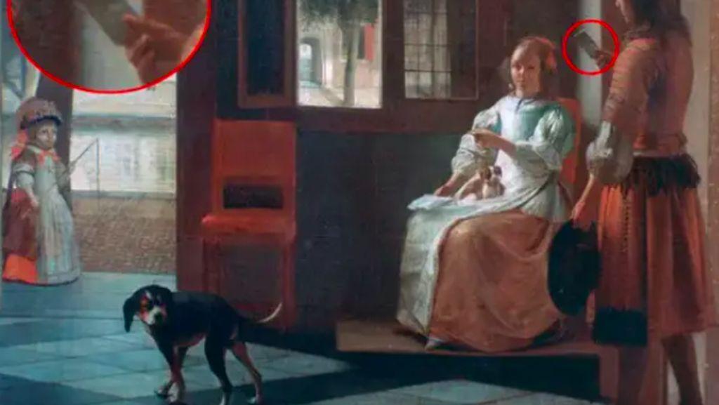 Aneh, Ada Penampakan Ponsel di Lukisan Berusia 350 Tahun Ini