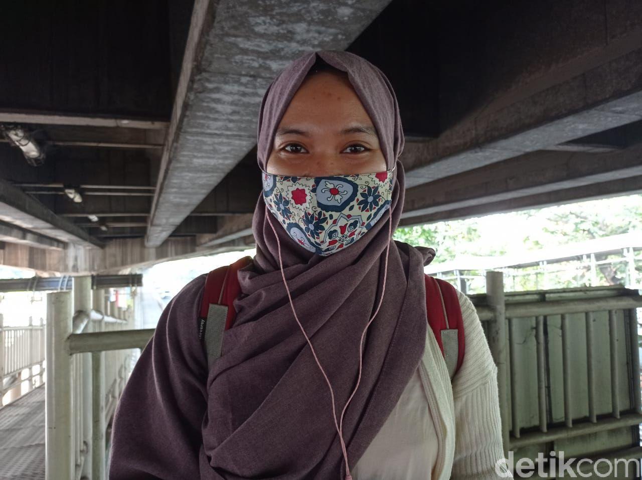 Pedestrian di trotoar Halte Kayu Putih, Rawasari, Jakarta Pusat. (Wilda Hayatun Nufus/detikcom)