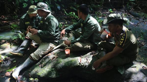 Mereka berpatroli 15 hingga 23 hari per bulannya, dengan tujuan menjaga kawasan hutan sambil mengumpulkan berbagai data di lapangan yang kemudian dapat dimanfaatkan untuk penelitian dan pengembangan oleh berbagai instansi Pemerintah dan pihak terkait.