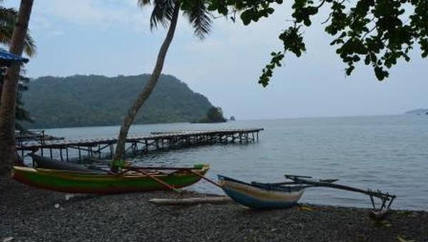 Teluk Tanah Merah sendiri berada di Distrik Depapre, Kabupaten Jayapura, Papua. Teluk ini memiliki pantai berpasir hitam. Perahu untuk perempuan sangat sederhana, berukuran lebih kecil serta tanpa cadik. (Hari Suroto/Istimewa)