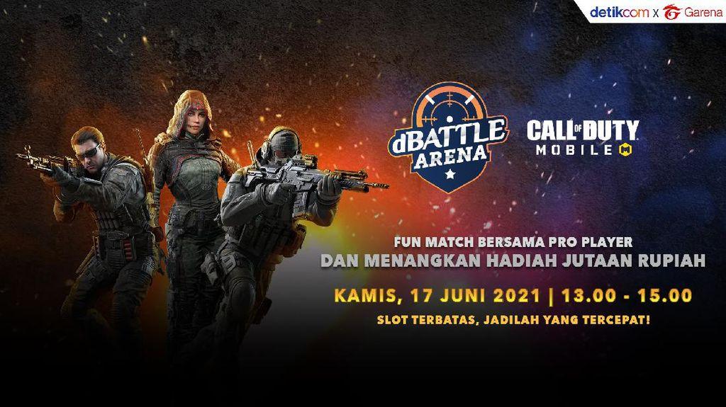 3 Hari Lagi! Duel dBattle Arena Call of Duty: Mobile di detikcom