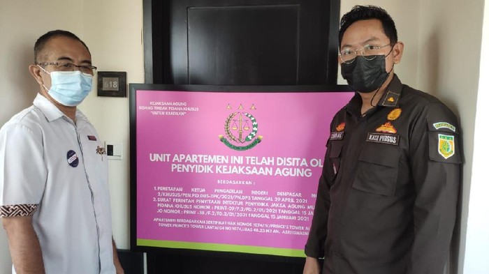 Kejagung menyita apartemen di kawasan Kuta, Bali terkait kasus ASABRI (dok. Istimewa).