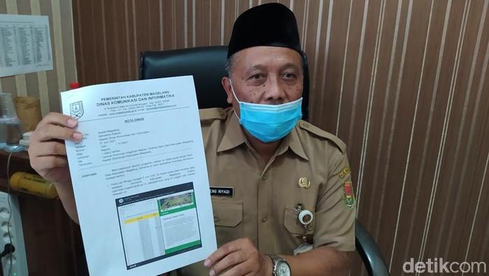 Kepala Bidang Aplikasi Informatika dan Statistik, Diskominfo Kabupaten Magelang, Sugeng Riyadi, Selasa (8/6/2021).
