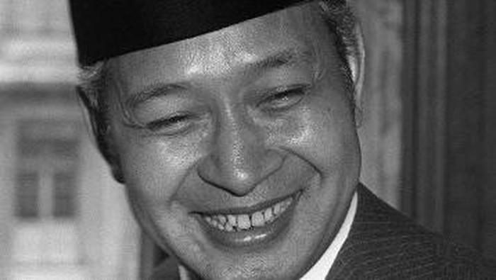 Potret Presiden Soeharto saat menjabat sebagai presiden pada 1970an.