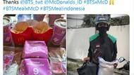 Mantap! Army Bagi Beras Sekarung Buat Abang Ojol yang Belikan BTS Meal