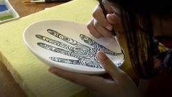 Celebrity on Vacation: Bikin Lukisan Keramik Sendiri di Jenggala Bali