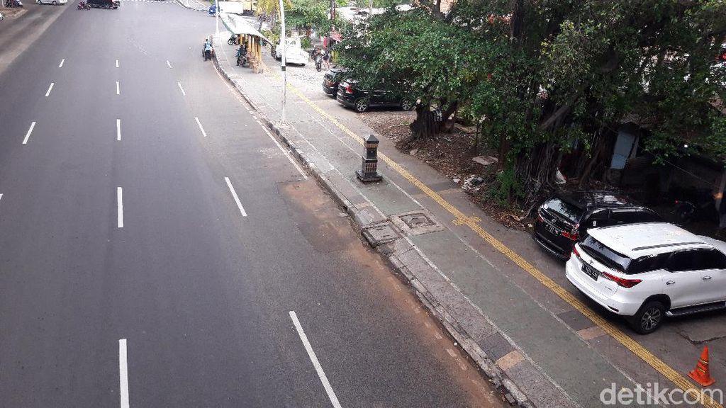 Trotoar Rawasari Mulai Bersih dari Parkir Liar, Begini Kondisinya