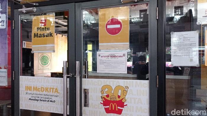 McDonalds Gambir ditutup imbas antrean ojol BTS Meal (detikcom)