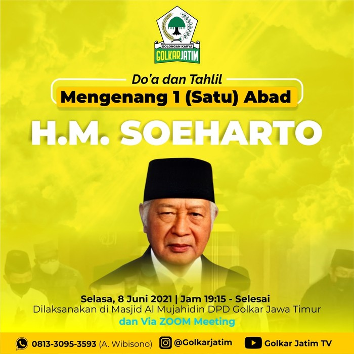 Golkar Jawa Timur gelar doa dan tahlil seabad Soeharto