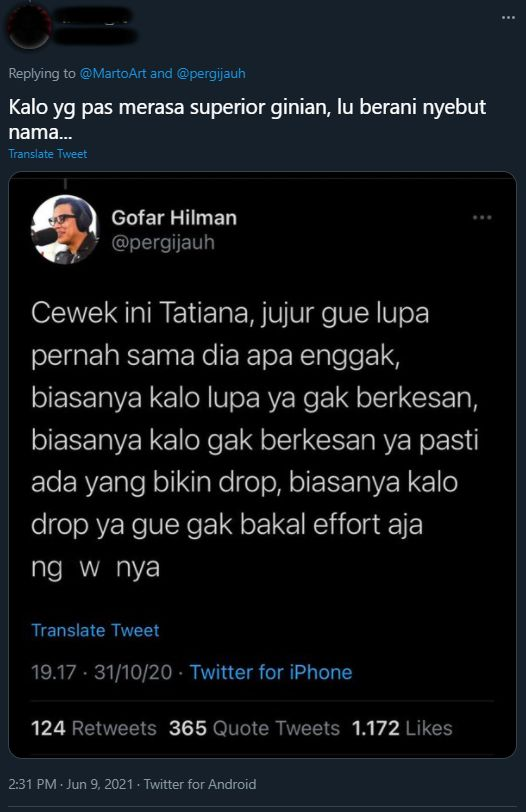 Netizen spill tweet lama Gofar Hilman