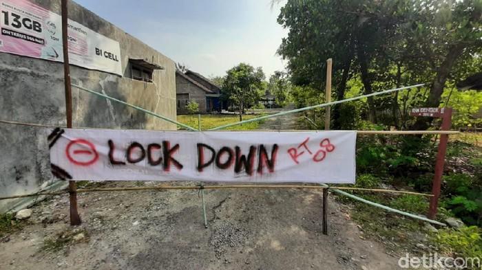 Padukuhan Dengok II, Kalurahan Dengok, Kapanewon Playen, Gunungkidul lockdown usai puluhan warga positif COVID-19