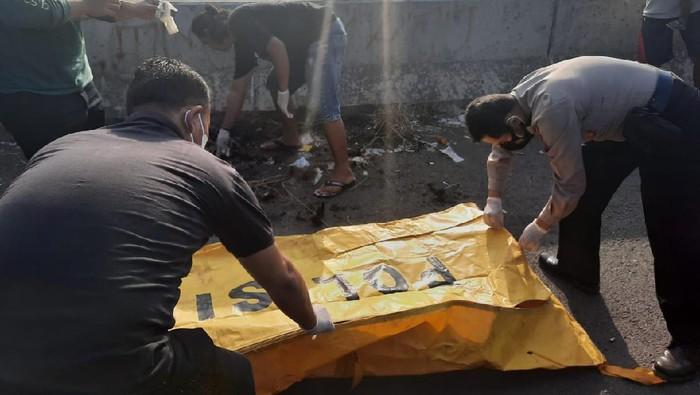 penemuan mayat gosong di Flyover Kramat, Brebes