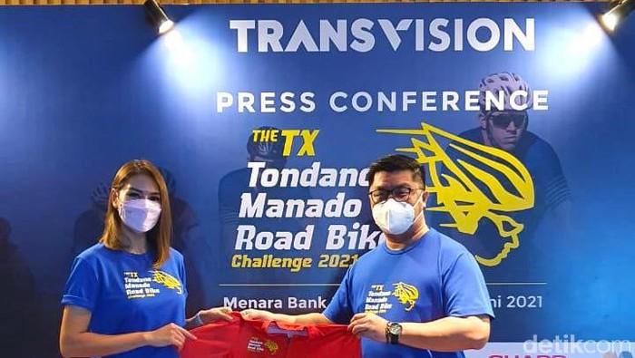 Jumpa pers ajang balap sepeda The TX Tondano Manado Road Bike Challenge 2021 akan dihelat 3-4 Juli.