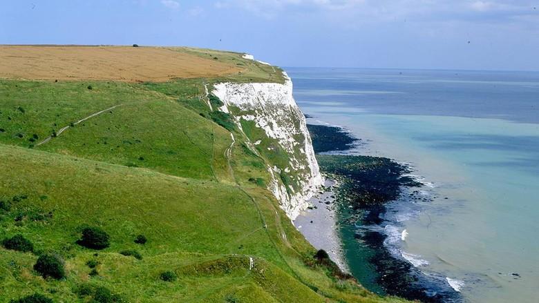 White Cliffs di Kent, Inggris