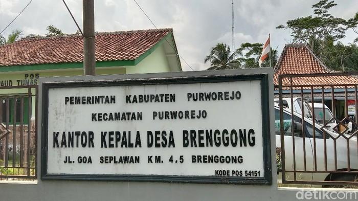 Balai Desa Brenggong, Kecamatan Purworejo, Purworejo, Kamis (10/6/2021).