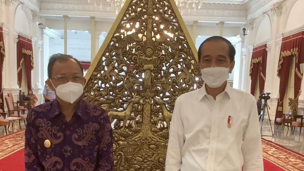 Bertemu Jokowi, Gubernur Bali Minta Wisata Mancanegara Dibuka Akhir Juli