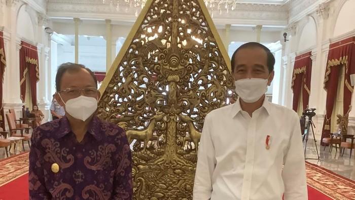 Gubernur Bali Koster bertemu Presiden Jokowi di Istana Negara, Senin (7/6).
