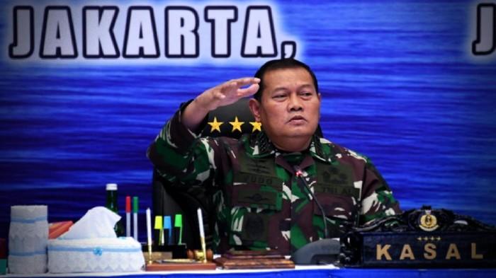 Kepala Staf Angkatan Laut (KSAL) Laksamana TNI Yudo Margono saat membuka Rapat Koordinasi (Rakor) Renaku (Perencanaan dan Anggaran Keuangan) I TNI Angkatan Laut TA. 2021 di Auditorium, Denma Mabesal, Cilangkap, Jakarta Timur, Rabu (9/6/2021).