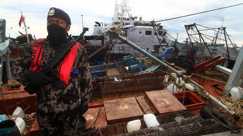 KKP Kembali Tangkap Belasan Kapal Pencuri Ikan