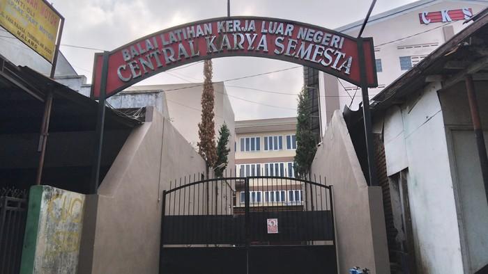 Lokasi kejadian Lima Calon TKW Loncat Dari Tempat Penampungan di Malang
