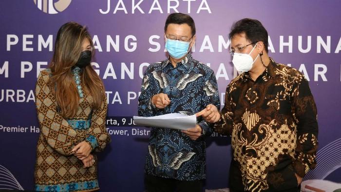 PT Urban Jakarta Propertindo Tbk (URBN) gelar RUPS dan RUPSLB di Jakarta, Rabu (9/6/2021). RUPS setuju mengangkat komisaris dan direksi baru.