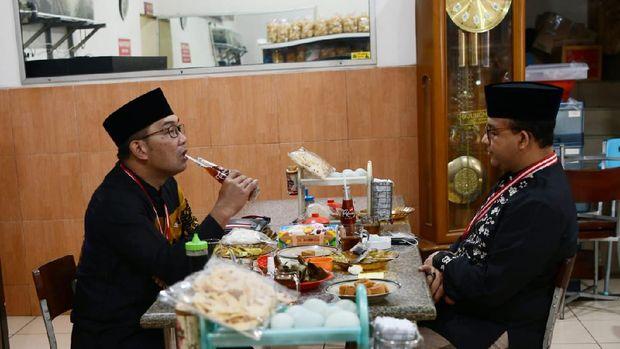 Anies dan RK saat sarapan bersama (Foto: Istimewa)