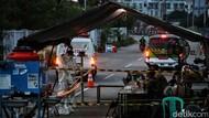 Puluhan Kendaraan Antar Pasien Corona ke Wisma Atlet