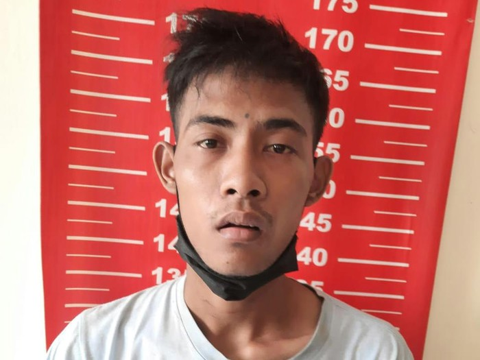 Bajing loncat berinisial IS ditangkap polisi usai aksinya mengambil peti telur viral di media sosial