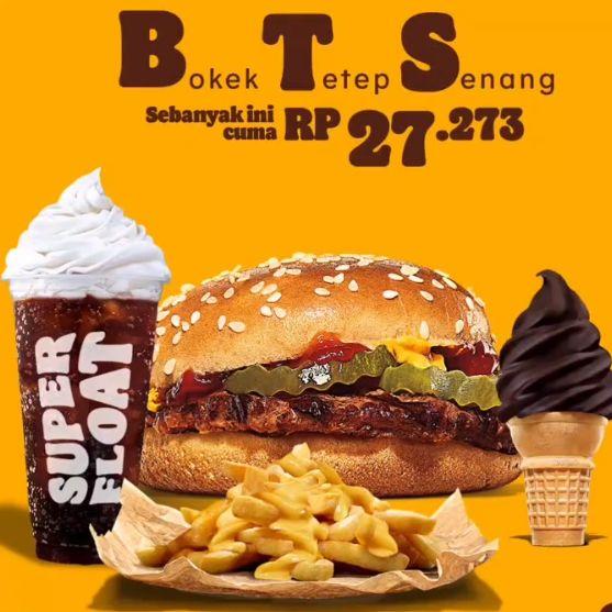 Burger King Keluarkan Paket Menu 'BTS' seharga Rp 27 Ribuan