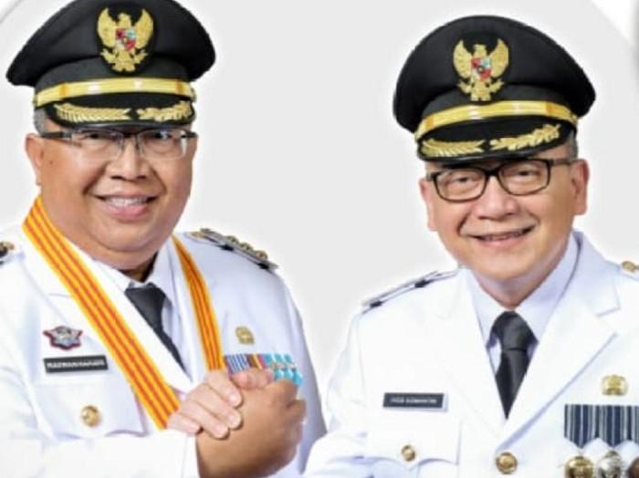 Bupati-Wabup Sukabumi membeberkan hasil 100 hari kerja