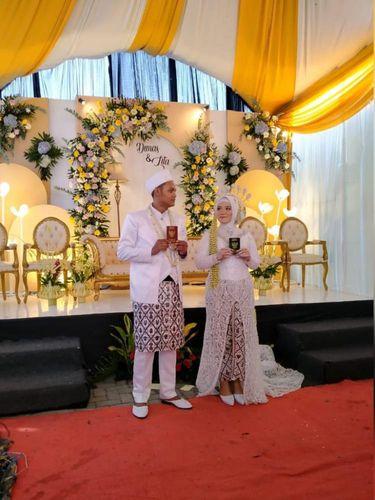 Foto pengantin Rahma Yulita dan Dimas Januar P.