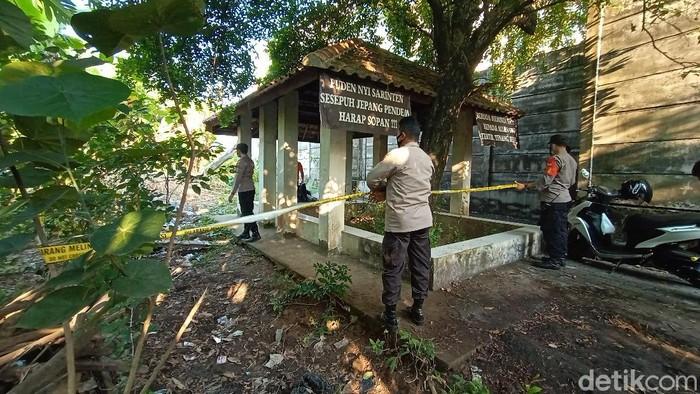 Lokasi penemuan mayat misterius di pekarangan warga Desa Jepang, Mejobo, Kudus, Jumat (11/6/2021).