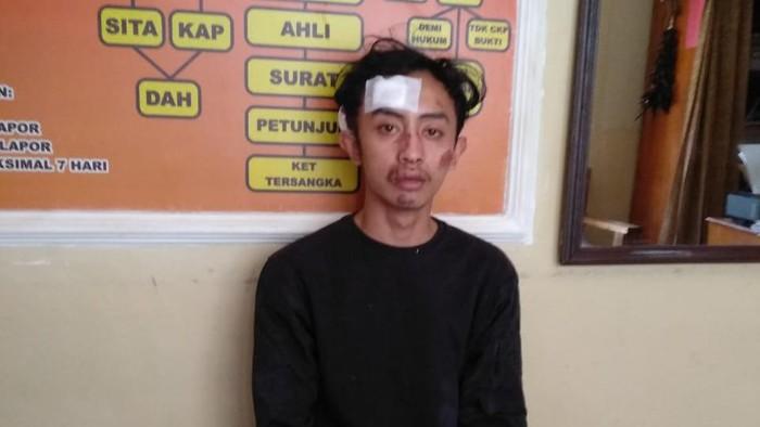 Pelaku pemecahan kaca mobil, Delzen Firanda (22), warga Muara, Sumatera Selatan, yang berdomisili di Temon.