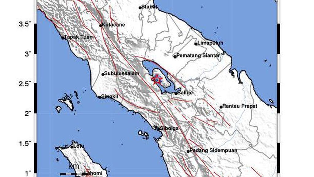 BMKG: Gempa M 2,8 Samosir Kategori Dangkal Diduga Akibat Swarm