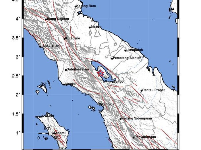 Pusat gempa di Samosir (dok. BMKG)