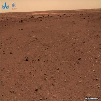 CNSA memamerkan tiga foto baru yang diambil rover Zhurong di Mars