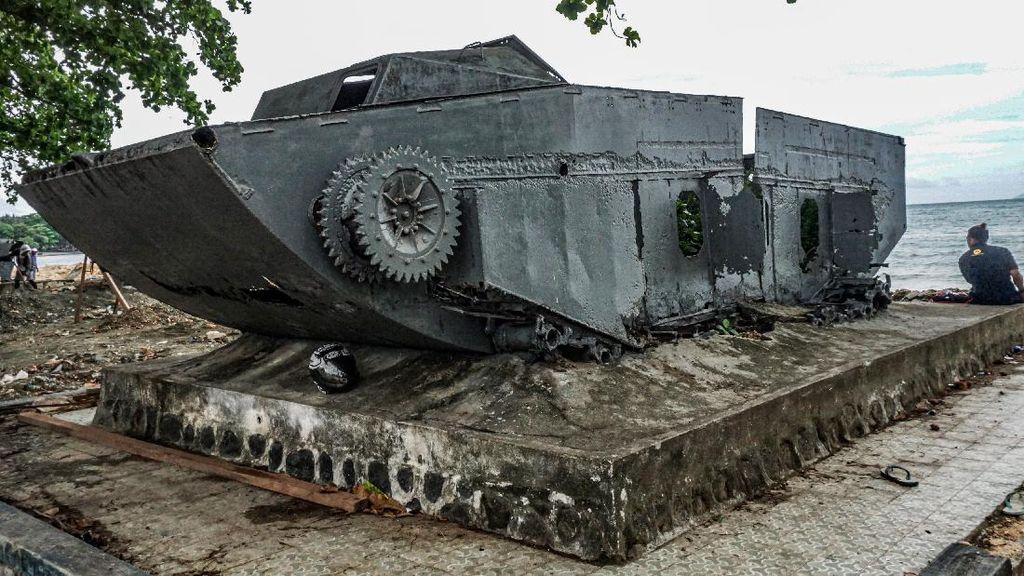 Penampakan Tank Bekas PD-II di Jayapura