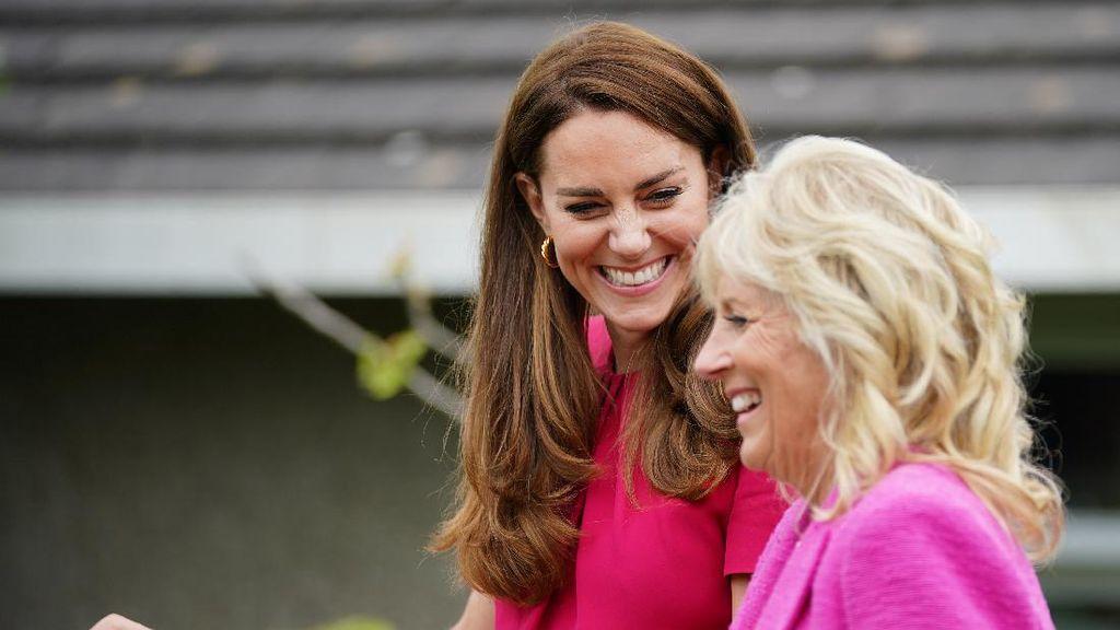 Momen Kebersamaan Jill Biden dan Kate Middleton