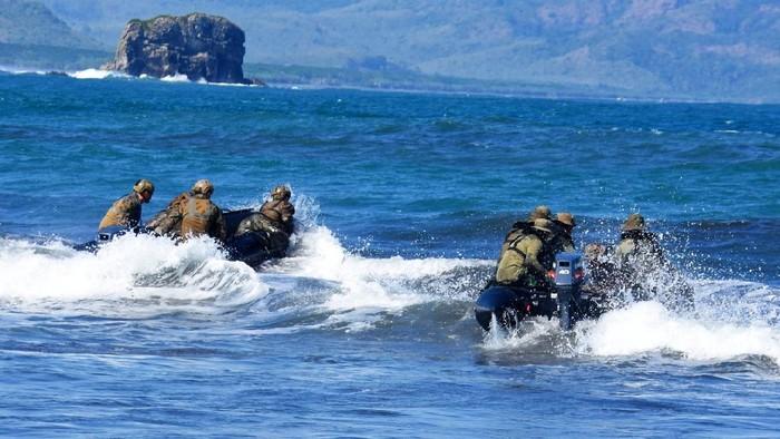latihan bersama marinir Indonesia dan AS