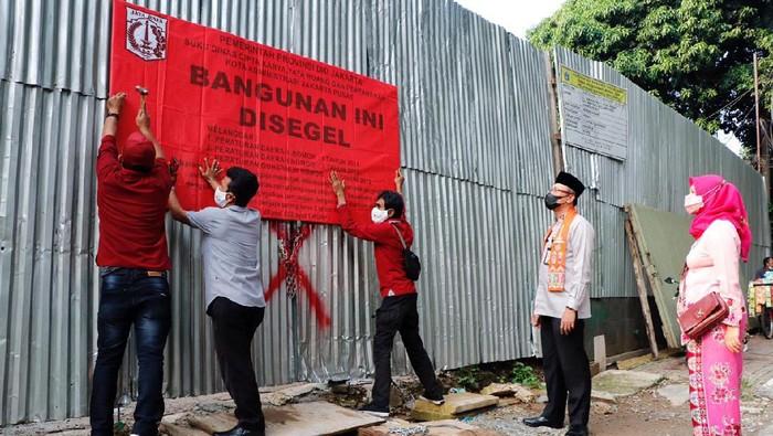 Rumah mewah di Menteng disegel (Dok Pemprov DKI Jakarta)