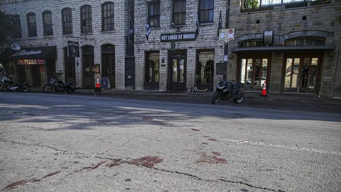 Bekas darah di lokasi penembakan massal Texas
