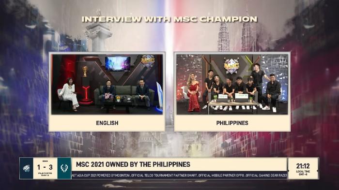 Evos Legends Kalah, Execration Jadi Juara MSC 2021