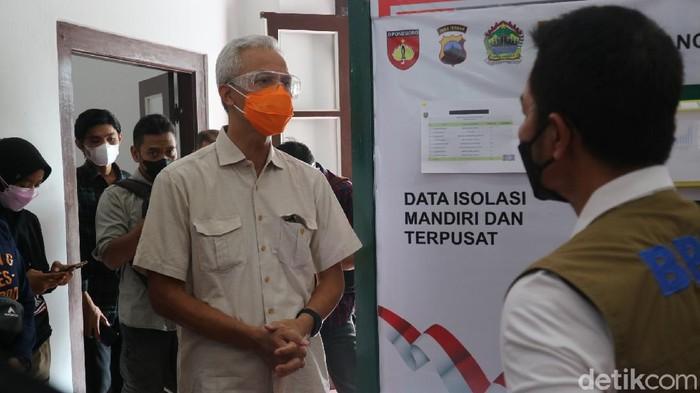 Gubernur Jawa Tengah Ganjar Pranowo di Kudus, Minggu (13/6/2021).