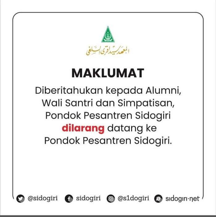 Kiai Nawawi Sidogiri Wafat, Alumni Santri Diminta Tak Datang ke Ponpes