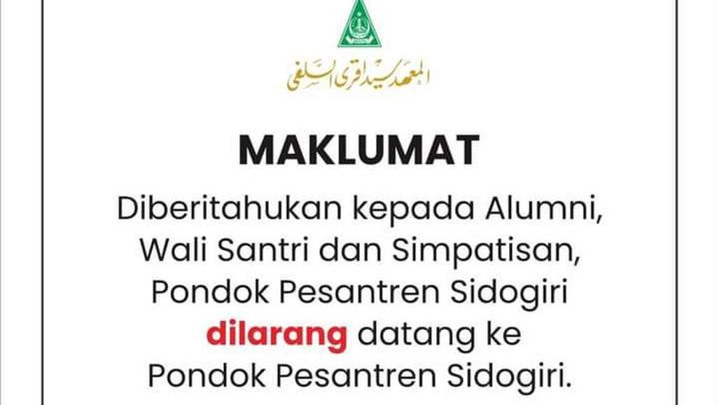 Kiai Nawawi Sidogiri Wafat, Alumni Santri Diimbau Tak Datang ke Ponpes