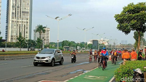 Pesepeda di Sudirman-Thamrin (Karin/detikcom)
