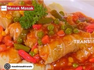 Masak Masak : Sawi Gulung Isi Ayam dengan Saus Pedas Manis