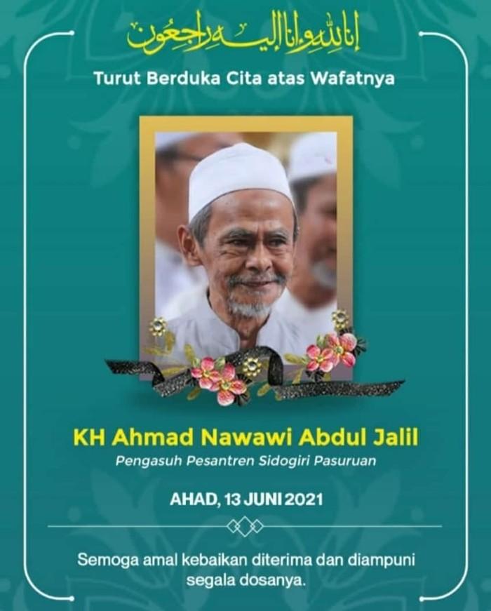 Ulama Kharismatik KH Nawawi Abdul Jalil Pasuruan Wafat