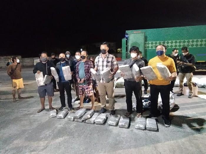 BNNP Bali menggagalkan upaya penyelundupan ganja dari Medan seberat 44 kg (dok BNNP Bali)