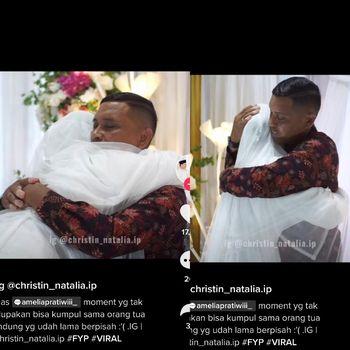 Kisah viral momen haru wanita bercadar ini menikah dan dihadiri oleh bapaknya seorang pendeta.
